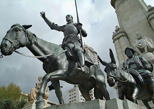 estatua quijote empresa traduccion